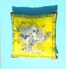 Cushion Cover Silk Dubhead 42cm Yellow with Skull Head Candles