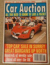 Car Auction Motor Trade Used Car June - Sept 2002 BCA Blackbushe Surrey