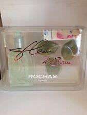 ROCHAS FLEUR D'EAU gift Set for Women(3.4oz EDT Spray + Perfumed Cream Soap 3Pcs