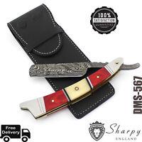 Luxury Damascus Steel Straight Razor Cut Throat Barber Salon Shaving Razor