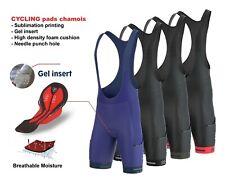 FDX Men All Day Bib shorts 3D Gel Chamois Padded Tights Pockets Cycling shorts