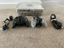 Original Xbox Crystal, Tested, 2 controllers and leads