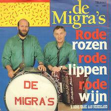 """DE MIGRA'S – Rode Rozen, Rode Lippen, Rode Wijn (1989 TELSTAR VINYL SINGLE 7"""")"""