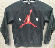 Nike Men's Air Jordan Black/Red Long Sleeve Crew Sweatshirt Size Medium