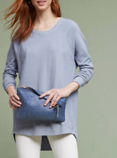 ANTHROPOLOGIE T.La BLUISH LONG SLEEVE CREW NECK TUNIC SWEATSHIRT PETITE Sz XXSP