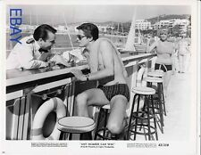 Alain Delon barechested Any Number Cab Win VINTAGE Photo
