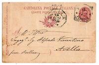 Avella - Annullo Collettoria - viaggiata per Città nel 1896 - 1
