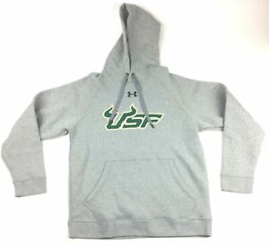 Under Armour South Florida Bulls USF Fleece Hoodie Men's L Gray Green1246241