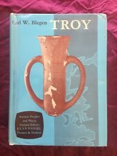 TROY AND THE TROJANS Blegen 1ST ED 1963 Ancient HISTORY Illustrated VINTAGE Book