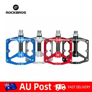 "RockBros MTB Road Biike Alloy Aluminum Bearing Pedal  Bicycle Nonslip Set  9/16"""