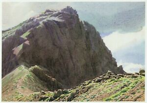 Scafell from Mickledore W Heaton Cooper print in 11 x 14 mount ready to frame