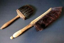 2 Antique Horsehair & Wood Brushes