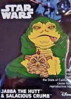 Disney Star Wars Jabba The Hut & Salacious Crumb Collectors Enamel Pin New