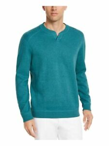 TOMMY BAHAMA Mens Teal Heather Long Sleeve Crew Neck Classic Fit Sweater S