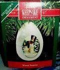 Winter Surprise`1990`Look Inside This Winter Wonderland,Hallmark Tree Ornament