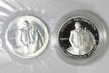 1982D (BU) & 82S (PF) G. Washington Commemorative 90% Silver Half Dollars Set