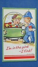 Motor Comic Postcard 1950s Bubble Car Messerschmitt Heinkel Isetta Trojan Peel