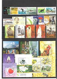 Slovenia postally used stamps.