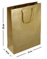 5 x GOLD JEWELLERY FAVOUR LITTLE GIFT BAGS - SMALL MATT GLOSS LAMINATED BAG