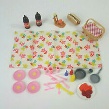 Barbie Doll and Other Accessories Toys Plastic Misc Lot Picnic Camping