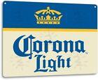 Corona Extra Light Beer Logo Retro Wall Decor Bar Pub Man Cave Large Metal Sign