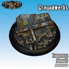 Industrial Scenic Base Insert (50mm) Groundwerks by Dark Age Games DAG9502