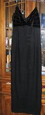 Sherrie Bloom Peter Noviello Black Flapper dress ladies 14 womens gown formal