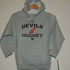 NHL Reebok New Jersey Devils Pullover Hooded Sweatshirt New Youth MD MSRP $40