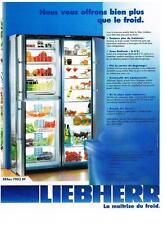 PUBLICITE ADVERTISING  2003   LIEBHERR    frigidaire congélateur