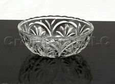 Clear Cut Molded Glass Star Flower Scalloped Ridge Candy Bowl Dish