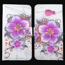Custodia FLIP cover stand Fiore Viola p Samsung Galaxy A5 2016 A510F Brillantini