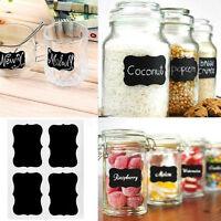36pcs Creative Chalkboard Blackboard Stickers Decals Craft Kitchen Jar Labels