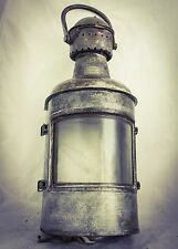 Antique OUVRARD & VILLARS St. Ouen Seine French Ship Lantern Nautical Lamp