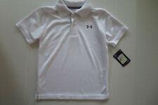 New Under Armour Boys Polo shirt white sz 4
