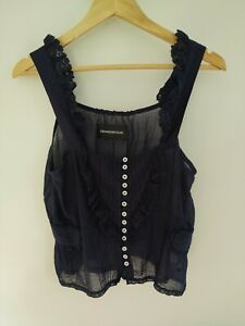 zadig and voltaire Blouse Navy Blue Cotton Small