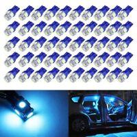 50X T10 Wedge 5SMD 5050 Ice Blue LED Light bulbs W5W 2825 158 192 168 194 Interi