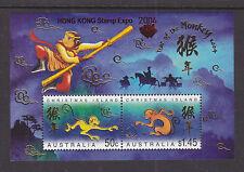 CHRISTMAS ISL 2004 YEAR OF THE MONKEY OV/PR HONG KONG ASC:486MSa  SCARCE!!!!