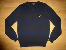 Men's Lyle & Scott Vintage Thin Multi Stripe V Neck Cotton Jumper Sweater XS/ S