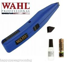 WAHL Grooming DOG Horse CORDLESS MINI TRIMMER Kit Detailing Touch Up Clipper