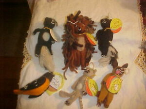 Vintage Wild Woolies Handmade Felt Animal Finger Puppets