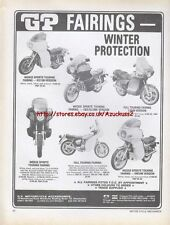 GP Fairings Motorcycle 1979 Magazine Advert #1386