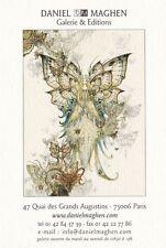 Rare et superbe carte de la galerie Daniel Maghen - Olivier Ledroit