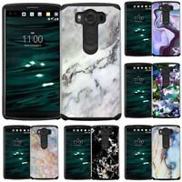 Marble Design Hybrid Case Dual Layers Protective Phone Cover for LG V10