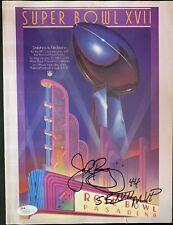 """John Riggins Signed Super Bowl Program Inscribed """"SB XVII MVP"""" Autographed JSA"""