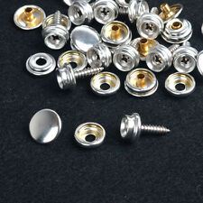 New 10 Sets 15mm Silver Snap Fasteners w/Screws Press Studs WOOD TO FABRIC UK