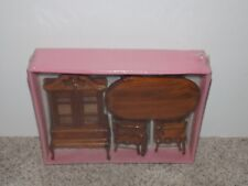Kingsbridge International Doll House Furniture Table & Chairs China Cabinet