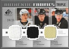 11/12 SP Game Used Triple Jersey Crosby Staal Malkin /25 AF3-Pens Penguins