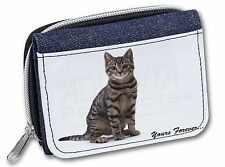 Tabby Cat 'Yours Forever' Girls/Ladies Denim Purse Wallet Christmas Gi, AC-172JW