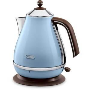 De'Longhi KBOV3001.AZ Icona Vintage Azure Blue Kettle Limescale Filter 3000