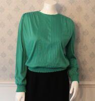 Vintage Bright Green Long Sleeve Women's Jersey Top
